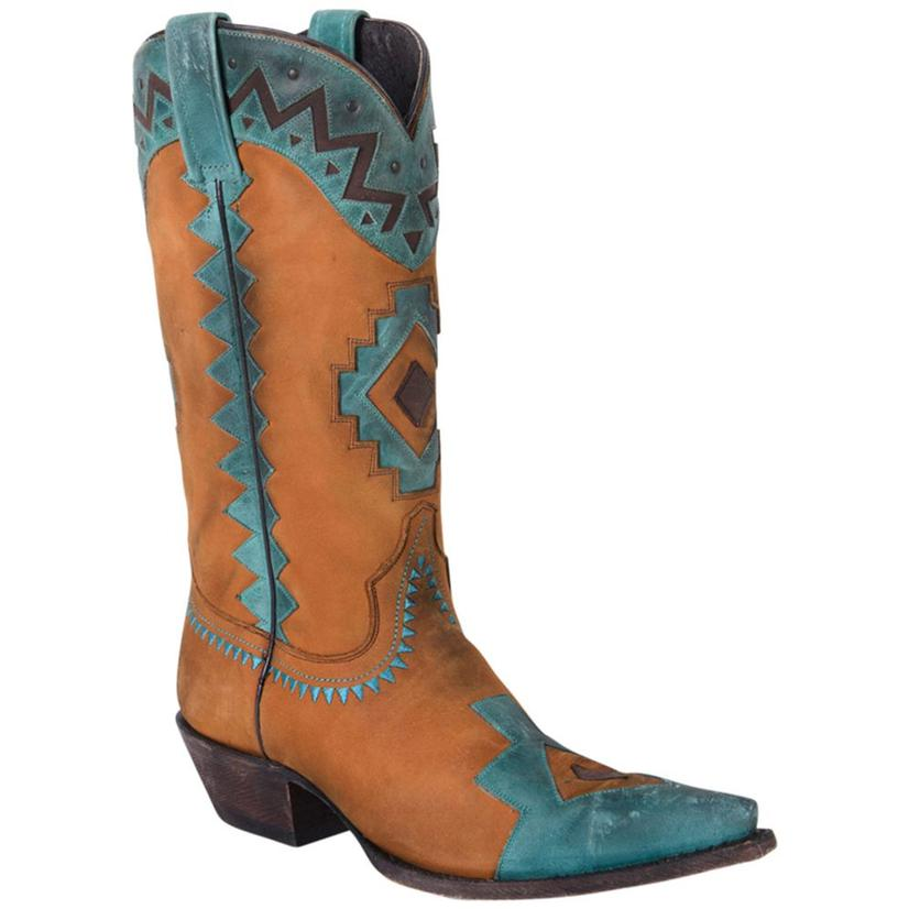 Caborca Vintage Bovine Leather Embroidered Women's Boots