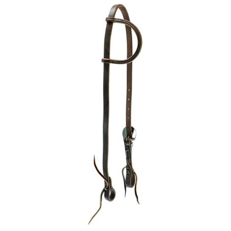 Slide Ear Headstall Heavy Oil and Single Buckle