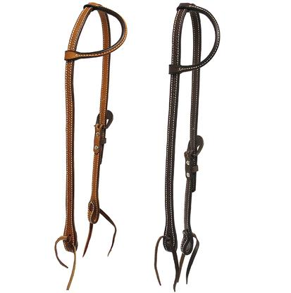 Slide Ear Headstall Single Buckle Basket Weave Tool