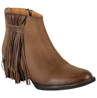 Circle G Womens Ankle Boot with Fringe