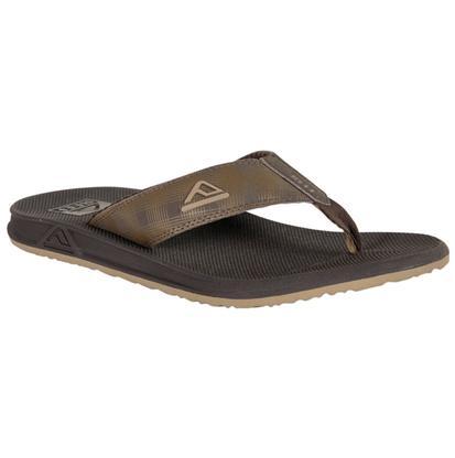 Reef Men's Brown Plaid Phantom Printed Sandals