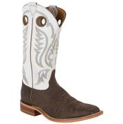 Justin Men's Bent Rail Chocolate Bisonte Square Toe Boots