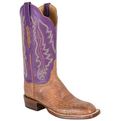 Lucchese Women's Tan Burnished Old English Goat Boots