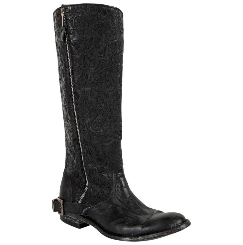 Old Gringo Womens Black Flame Boots