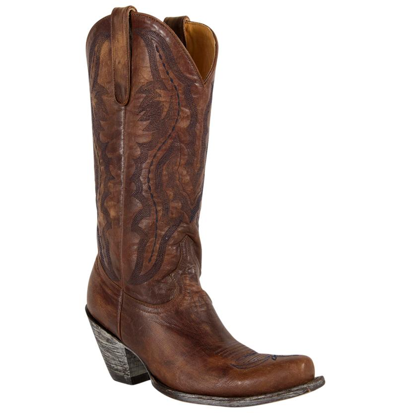 Old Gringo Rio Vesuvio Brown Brass Boots
