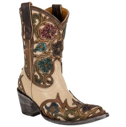 Old Gringo Ladies Abelina Nude Floral Boots