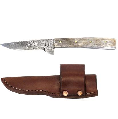 Shark Tooth Fixed Blade Knife with Leather Sheath