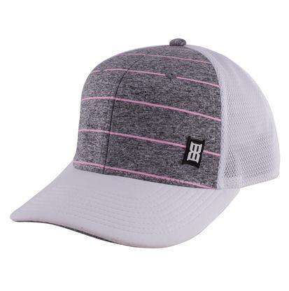 Bex Women's Pink Jersey Striped Ball Cap