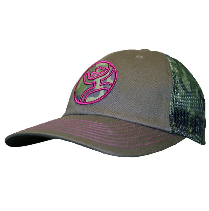 Hooey Camo/Magenta Bullseye Trucker Cap
