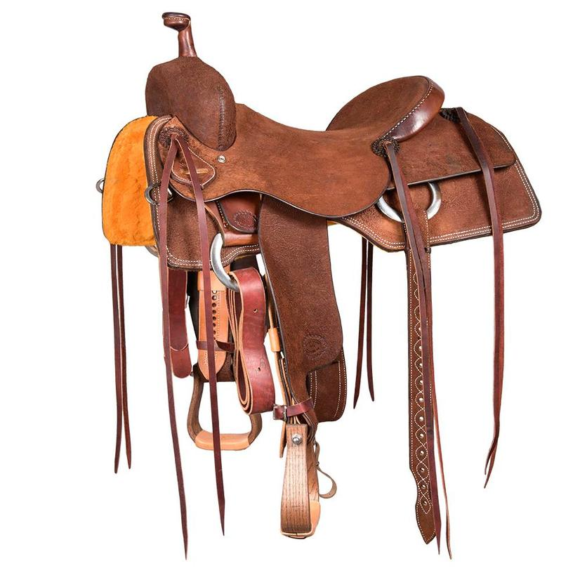 Stt Ranch Cutter Chocolate Roughout Leather Saddle