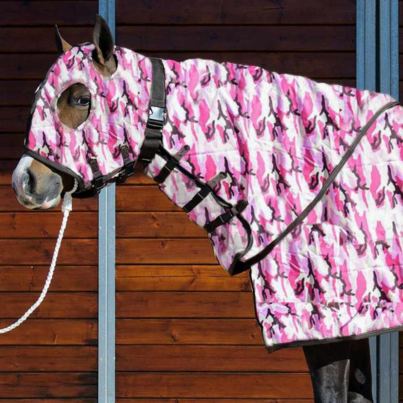 Stt Premier Horse Blanket Hood Green Camo
