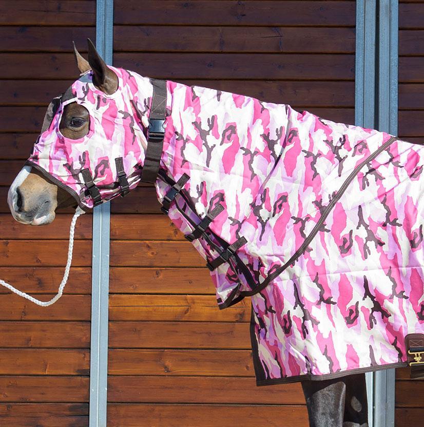 Stt Horse Sheet Hood Pink Camo