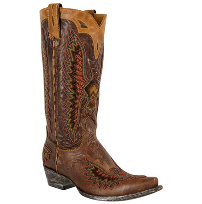Old Gringo Eagle Chaquira Brass Boots