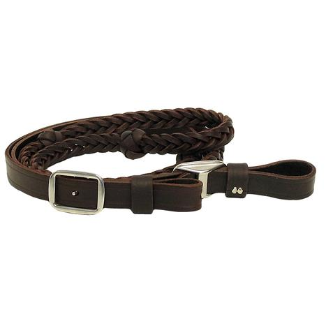 5 Plait Latigo Leather Barrel Reins