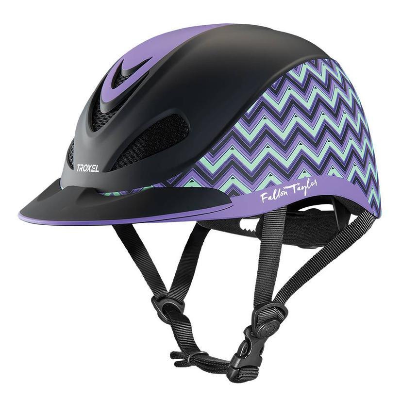 Fallon Taylor Western Performance Helmet Troxel LAVENDER_CHEVRON