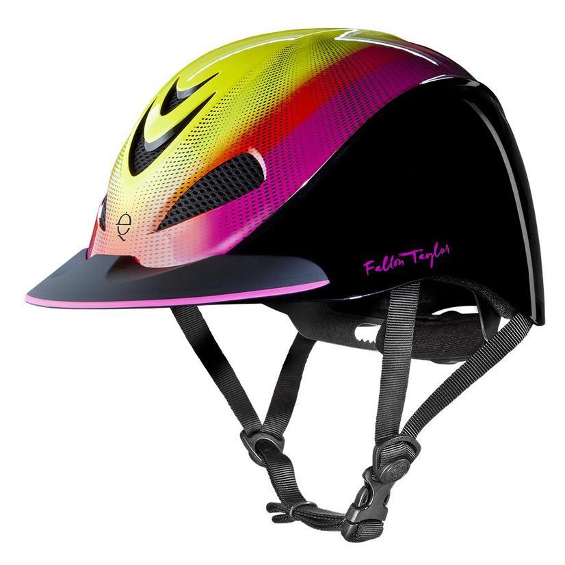 Fallon Taylor Western Performance Helmet Troxel NEON_FLARE