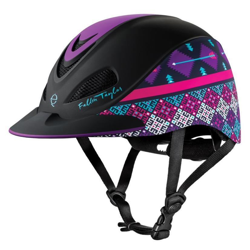 Fallon Taylor Western Performance Helmet Troxel PURPLE_GEO