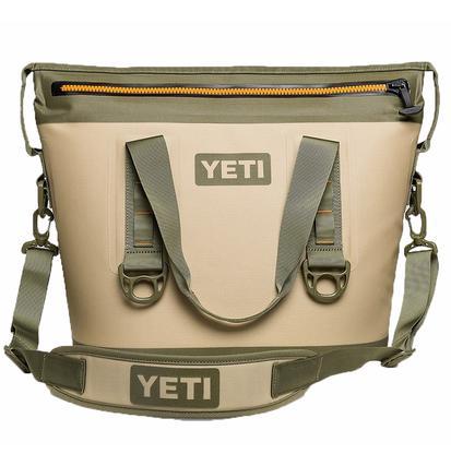 Yeti Hopper Two 20 Soft Sided Cooler - Field Tan/Blaze Orange