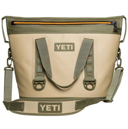 Yeti Hopper Two 30 Soft Sided Cooler - Field Tan/Blaze Orange
