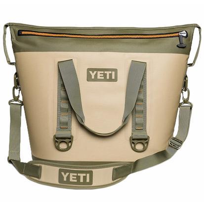 Yeti Hopper Two 40 Soft Sided Cooler - Field Tan/Blaze Orange