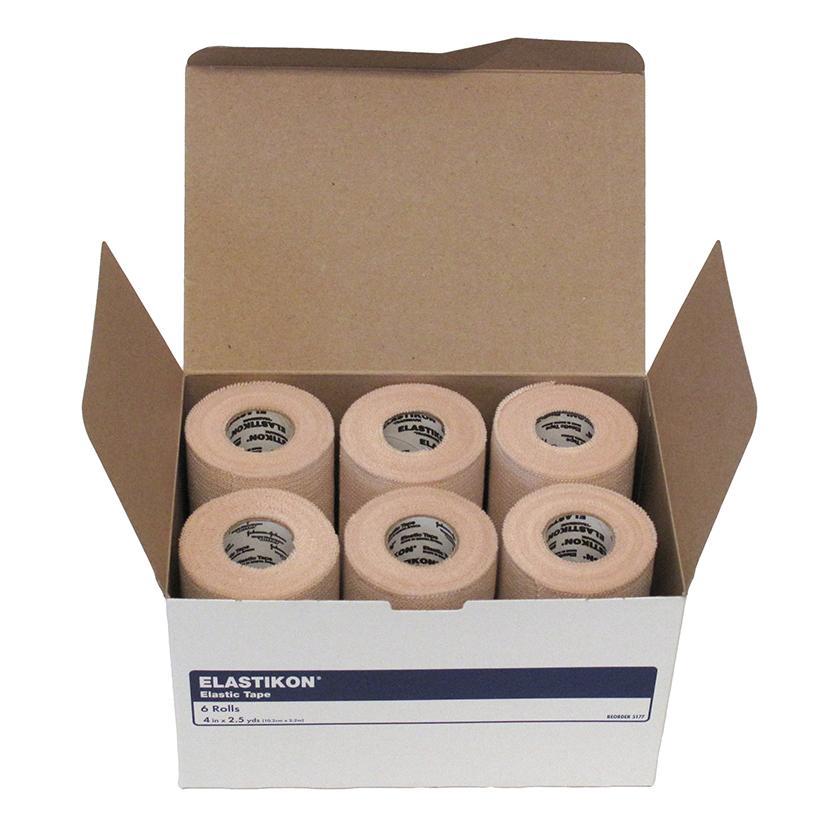 Elastikon Elastic Tape Bandaging 4in X 2.5yd 6/Box