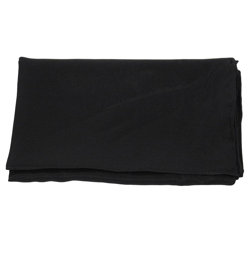 Solid Color Silk Wild Rag BLACK