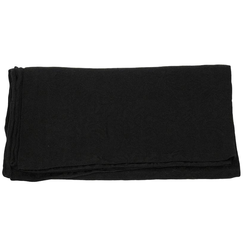 Solid Color Jacquard Wild Rag BLACK