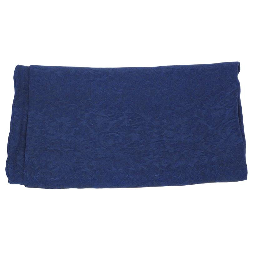 Solid Color Jacquard Wild Rag NAVY