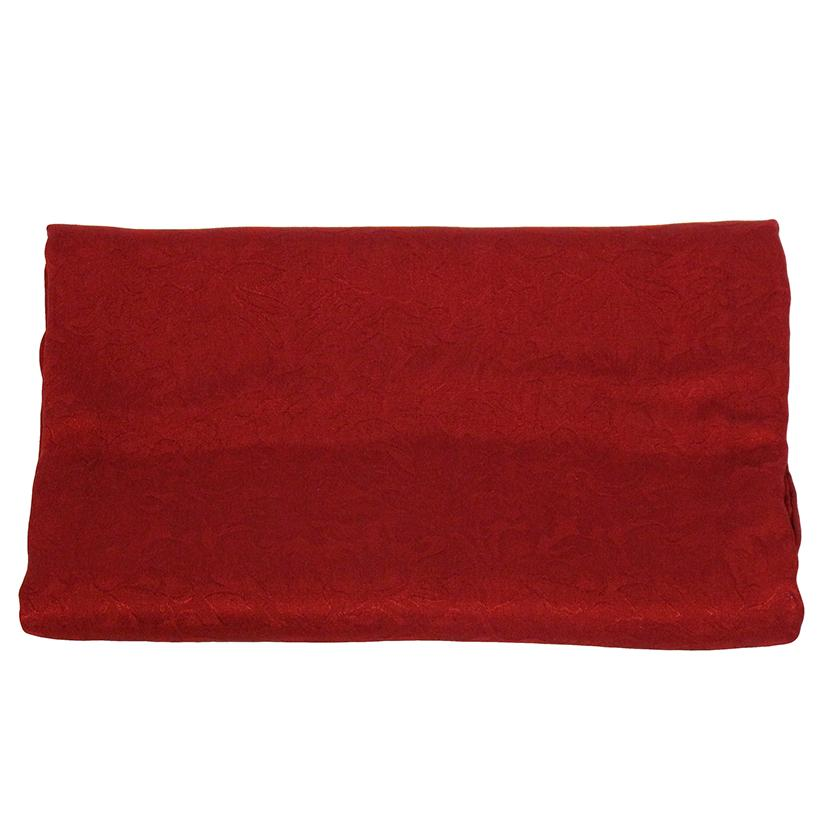 Solid Color Jacquard Wild Rag RED