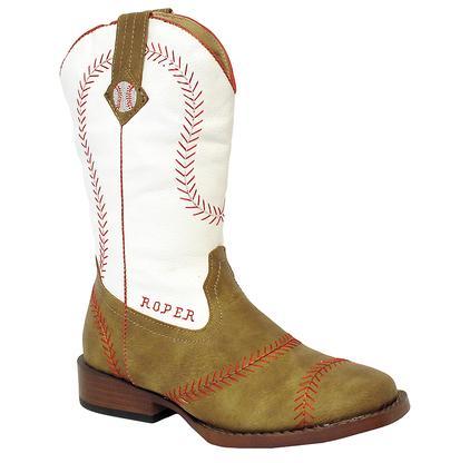 Roper Kid's Home Run Baseball Stitching Boots