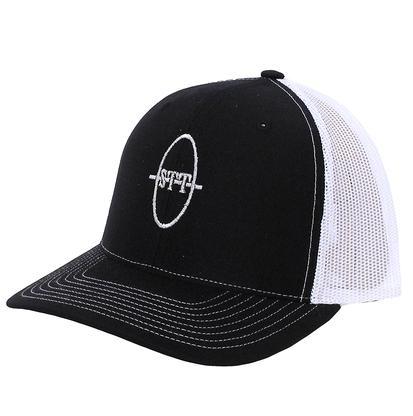 STT Black/White Mesh Trucker Cap