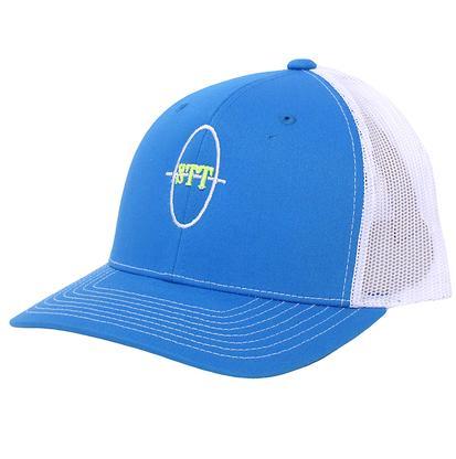 STT Turquoise & White Mesh Back Trucker Cap