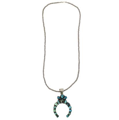 STT Navajo Turquoise Stone Pendant Necklace