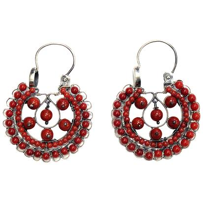 STT Corralitos Mexican Engraved Loop Earrings