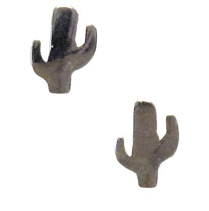 Sterling Silver Cactus Earrings