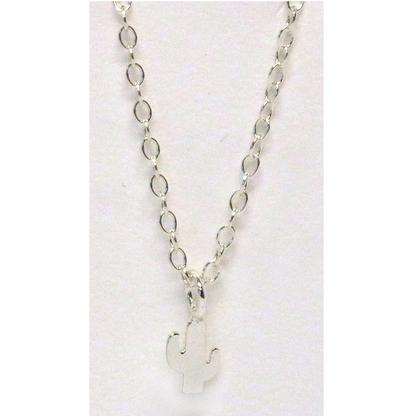 Kris Nations Sterling Silver Cactus Necklace