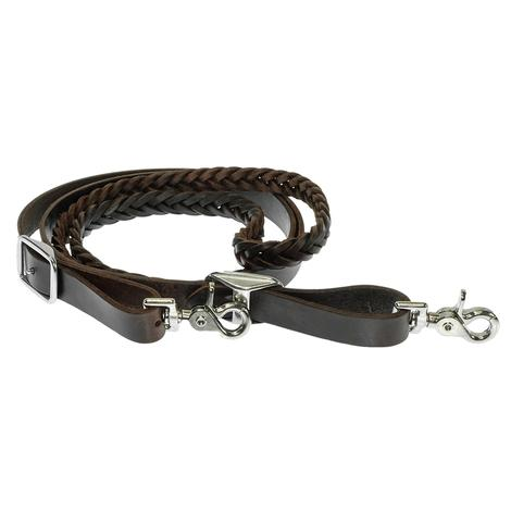 Braided Latigo Roping Rein