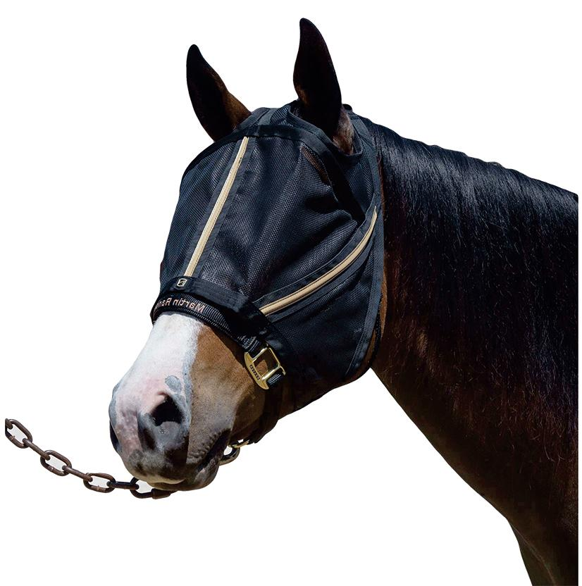 Noble Outfitters Guardsman Fly Mask BLACK