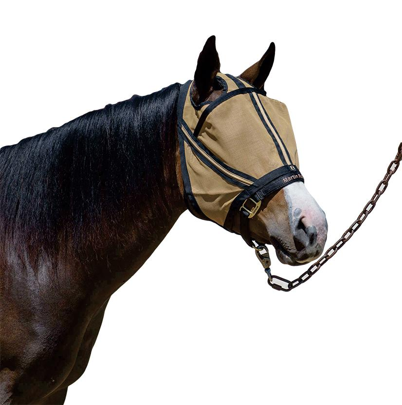 Noble Outfitters Guardsman Fly Mask GOLD