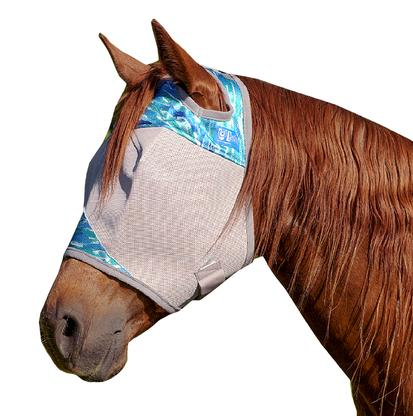 Cashel Crusader Patterned Standard Fly Mask- Blue Watercolor