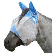 Cashel Wounded Warrior Crusader Fly Mask with Ears - Blue