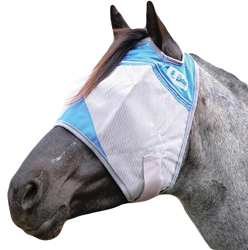 Cashel Wounded Warrior Crusader Fly Mask - Blue