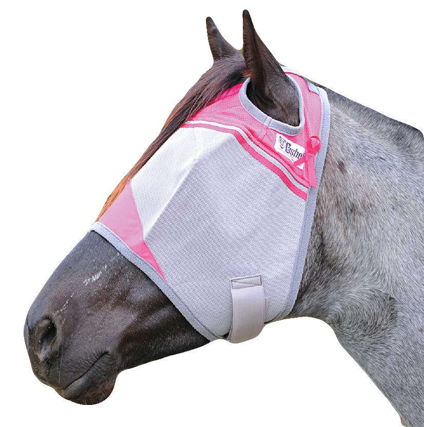 Cashel Breast Cancer Research Crusader Fly Mask - Pink