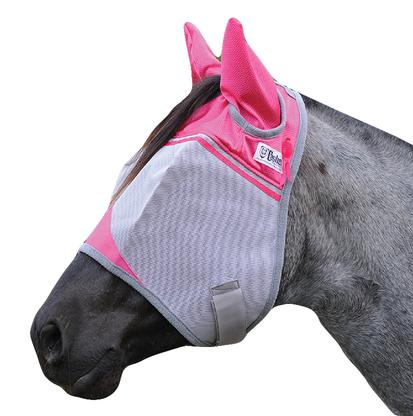 Cashel Crusader Fly Mask with Ears - Breast Cancer Pink