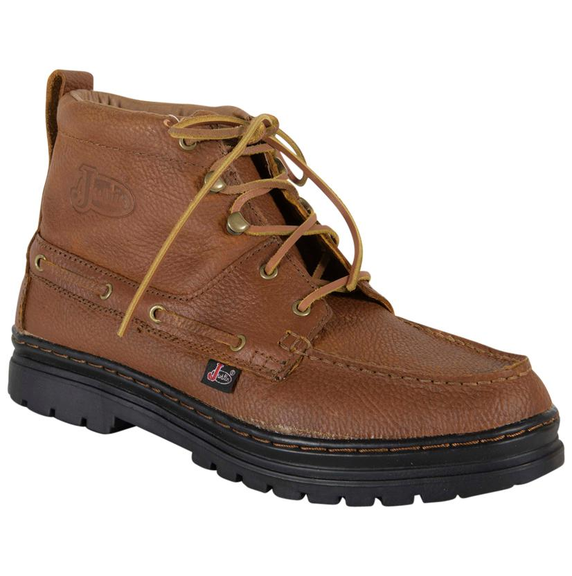 Justin Mens Brown Copper Grizzly Chukka Shoes