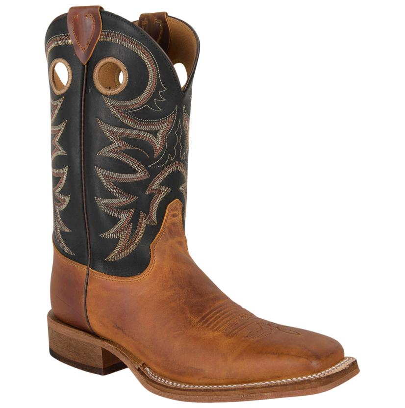 Justin Mens Tobacco Cowhide Bent Rail Boots