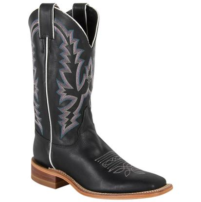 Justin Womens Bent Rail Black Burnished Calf Boots