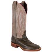Justin Bent Rail Scribble Cowgirl Boots