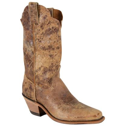 Justin Women's Cracked Tan Road Bent Rail Western Boot