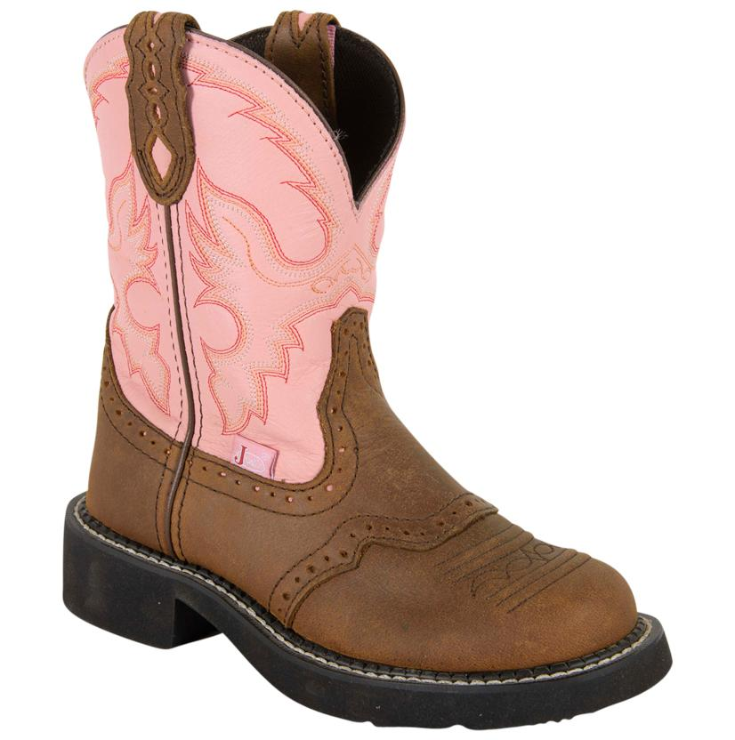 Justin Womens Pink Gypsy Apache Boots